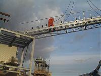 CJ Twomey - Erecting third section of conveyor