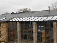 A bespoke aluminium window for a house.