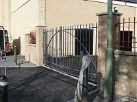 Railings and gate for rear car park and first floor rear access.