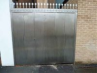 Stainless steel gate fabricated and fitted for Pembroke college.