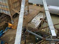chute sections installed at the sand plant