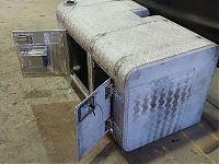 Aluminium storage compartment