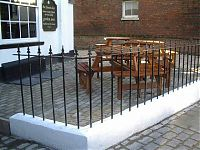 Oxford project - fabricated pub railings