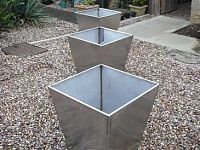 Stainless steel plant containers