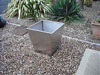 Our stainless steel plant containers are made to your specifications