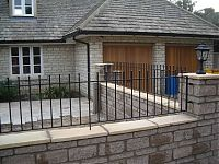Wrought iron style railings made in mild steel