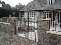 Oxford project - wrought iron style gate and railings made in mild steel