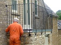 Oxford project - wrought iron style balcony railings made in mild steel