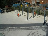 Bays for storing aggregate