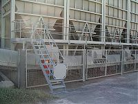 Access platform with steps and handrail