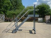 Mobile inspection platform and steps made from mild steel or aluminium