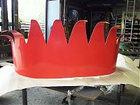 The metal crown is then powder coated