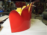 The crown was then powder coated yellow inside