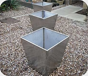 Stainless steel planters
