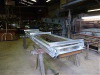 Bespoke sliding aluminium window before coating.